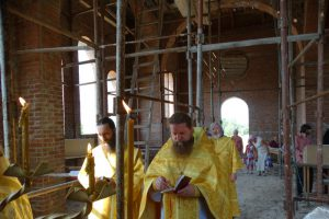 Первая литургия в храме святителя Николая Рождественского 5
