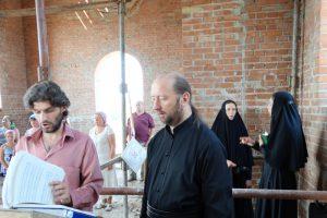 Первая литургия в храме святителя Николая Рождественского 7
