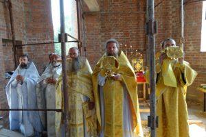 Первая литургия в храме святителя Николая Рождественского 9